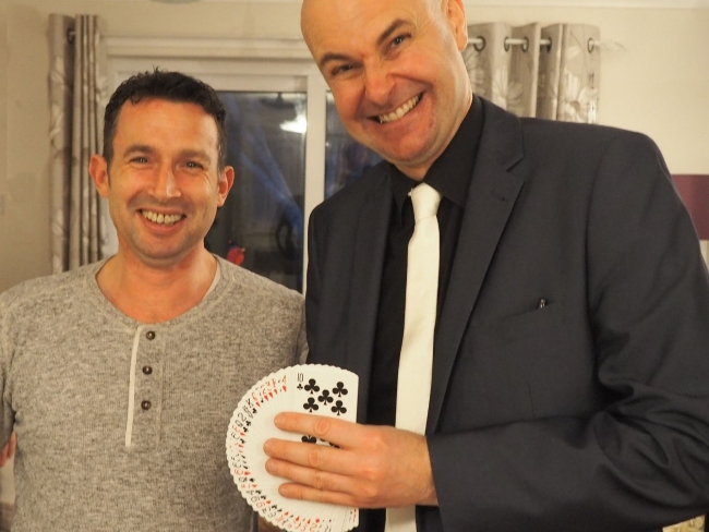 Friends of magician David Fox